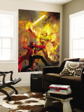 Strange No.6 Cover: Dr. Strange and Dormammu Fighting Wall Mural