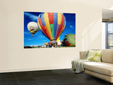 Hot Air Balloons at Annual Great Reno Balloon Race Wall Mural by Judy Bellah