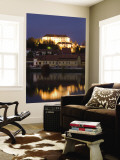 Castle and Houses Reflected in Drava River Wall Mural by Richard Nebesky