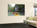 Kayak on Ao Phang Nga Wall Mural by Austin Bush