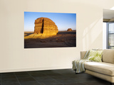 Rock Hewn Qasr Al-Farid Tomb at Nabataean City Wall Mural by Anthony Ham