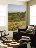 Vineyards and Church on Top of Hill Wall Mural by Richard Nebesky
