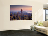 Empire State Building from Rockefeller Center at Dusk Wall Mural by Richard l'Anson