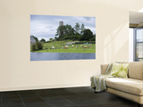 Cattle and Round Tower Wall Mural by Holger Leue