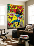 Marvel Comics Retro: Captain America Comic Book Cover 105, Batroc (aged) Wall Mural