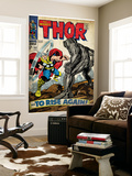 Marvel Comics Retro: The Mighty Thor Comic Book Cover 151 --To Rise Again! (aged) Wall Mural