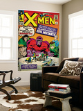 Marvel Comics Retro: The X-Men Comic Book Cover No.4, Scarlet Witch, Quicksilver, Toad(aged) Wall Mural