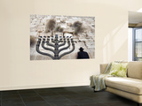 The Wailing Wall and Hanuka Chandelier Wall Mural by Izzet Keribar