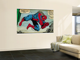 Marvel Comics Retro: The Amazing Spider-Man Comic Panel (aged) Wall Mural