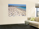 Summer Holiday Crowds on Bondi Beach Wall Mural by Oliver Strewe
