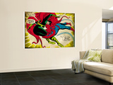 Marvel Comics Retro: The Amazing Spider-Man Comic Panel, Medusa (aged) Wall Mural