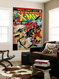 Marvel Comics Retro: The X-Men Comic Book Cover No.103 with Storm, Nightcrawler, Banshee(aged) Wall Mural