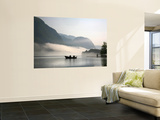 Two Fishermen in Boat on Lake Bohinj (Bohinjsko Jezero) Wall Mural by Ruth Eastham & Max Paoli