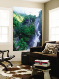 Rio Verde Falls into the Rio Pastaza - Rio Verde, Maca Wall Mural by Woods Wheatcroft