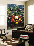 Avengers: The Initiative No.15 Cover: Iron Man, Ms. Marvel and Black Widow Wall Mural by Mark Brooks