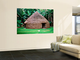 Traditional Kanak House, Lifou Island, Loyalty Islands, New Caledonia Wall Mural by Peter Hendrie