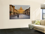 Nun Crossing Road in Front of St. Peter's Basilica Wall Mural by Will Salter