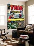 Marvel Comics Retro: The Mighty Thor Comic Book Cover No.130, Thunder in the Netherworld (aged) Wall Mural