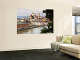 Townscape and Danube River Wall Mural by Aldo Pavan