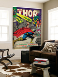Marvel Comics Retro: The Mighty Thor Comic Book Cover No.143, Sif (aged) Wall Mural