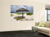 Sun Shade on Beach, Taj Denis Island Resort, Denis Island, Seychelle Wall Mural by Holger Leue