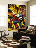New Avengers No.6 Cover: Iron Man and Captain America Wall Mural by Bryan Hitch
