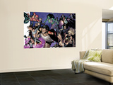 House Of M No.6 Group: Wolverine, She-Hulk, Spider-Man and Warbird Wall Mural by Olivier Coipel