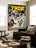 Marvel Comics Retro: The Mighty Thor Comic Book Cover No.129, The Verdict of Zeus, Hercules (aged) Wall Mural