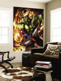 Spider-Man India No.4 Cover: Spider-Man and Green Goblin Premium Wall Mural by Jeevan J. Kang
