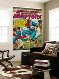 Marvel Comics Retro: Captain America Comic Panel, The Inconceivable Adaptoid! with Bucky (aged) Wall Mural