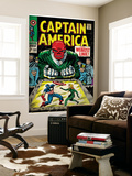 Marvel Comics Retro: Captain America Comic Book Cover No.103, Red Skull, the Weakest Link (aged) Wall Mural