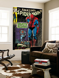 Marvel Comics Retro: The Amazing Spider-Man Comic Book Cover No.75, Death Without Warning! (aged) Wall Mural
