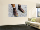 Rickshaw Driver's Shoes Wall Mural by Greg Elms
