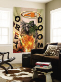 Marvel Knights 4 No.17 Cover: Dr. Doom and Human Torch Flying Wall Mural by Jim Muniz