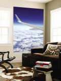 Wing of Boeing 767 with Clouds over Southwestern Australia Wall Mural by Greg Elms