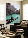 The Venetian Hotel and Gondola Wall Mural by Carol Polich