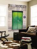 Green Door Wall Mural by Holger Leue