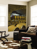 Barrels in Cellar at Chateau Changyu-Castel, Shandong Province, China Wall Mural by Janis Miglavs