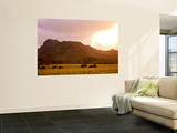 Sleeping Giant (Nounou Mountain) at Sunset Wall Mural by Linda Ching