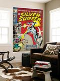 Marvel Comics Retro: Silver Surfer Comic Book Cover No.7 (aged) Wall Mural