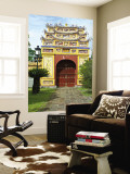 Western Entrance Gate to the Mieu Temple Inside Hue Citadel and Imperial City Wall Mural by Nicholas Reuss