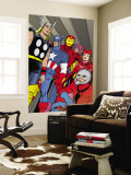 X-Statix No.21 Group: Ant-Man, Captain America, Thor, Iron Man, Scarlet Witch, Hawkeye and Avengers Wall Mural by Michael Allred