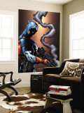 Captain America And The Falcon No.13 Cover: Captain America Wall Mural by Dan Jurgens