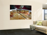 Pizza Margherita Wall Mural by Holger Leue