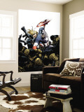 Captain America No.3 Cover: Captain America, Carter and Sharon Wall Mural by Steve Epting