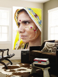 Rajasthani Woman with Nose Ring Wall Mural by April Maciborka