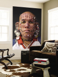 Portrait of Pierced Man Wall Mural by Guylain Doyle