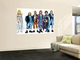 Handbook: X-Men 2005 Group: Emma Frost, Black Queen, Hellfire Club and White Queen Wall Mural by Greg Shigiel