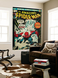 Marvel Comics Retro: The Amazing Spider-Man Comic Book Cover No.151, Flooding (aged) Wall Mural