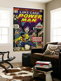 Marvel Comics Retro: Luke Cage, Hero for Hire Comic Book Cover No.26, the Night Shocker! (aged) Wall Mural